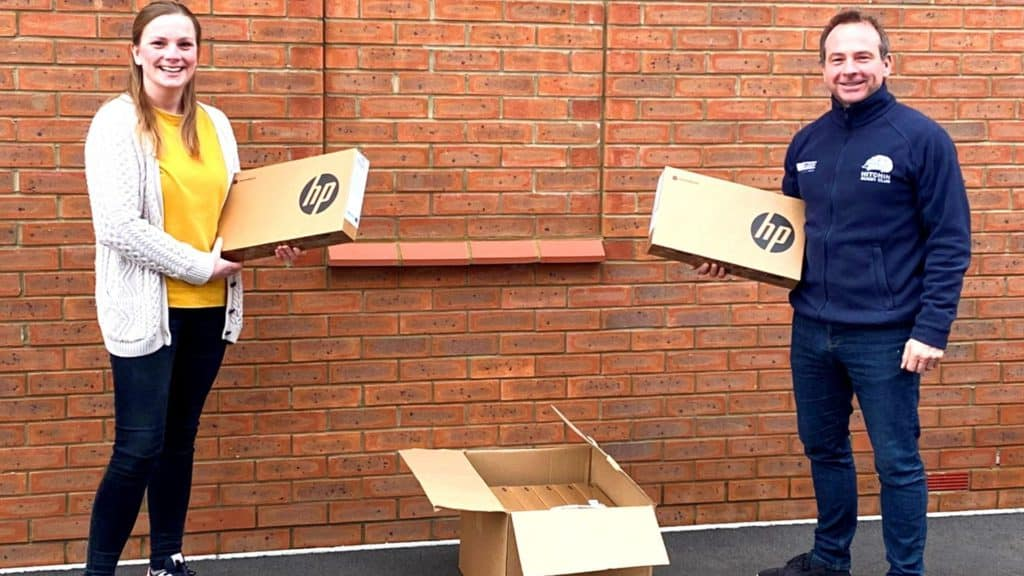 MNP donate Laptops To Linden Academy Luton